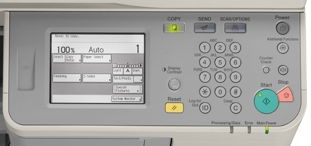 Bảng điều khiển máy photocopy