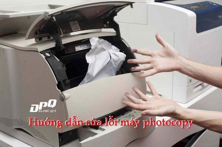 Hướng dẫn sửa lỗi máy photocopy
