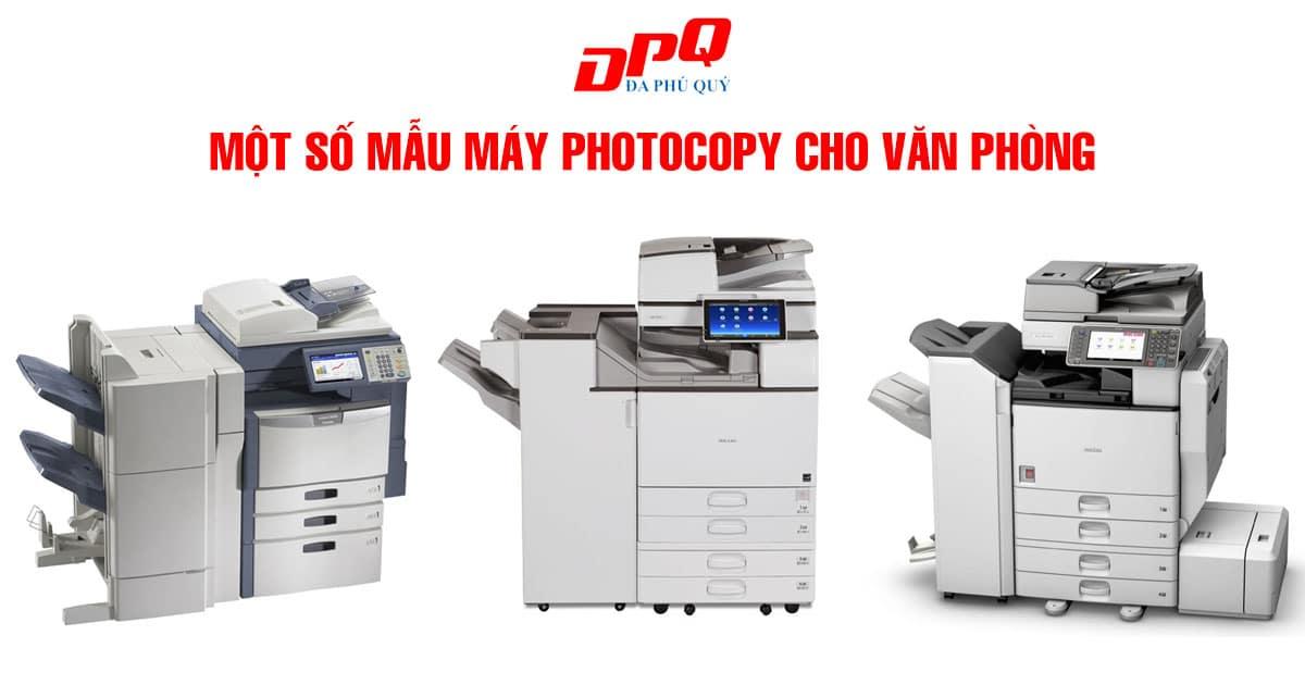 Một số mẫu máy photocopy cho văn phòng