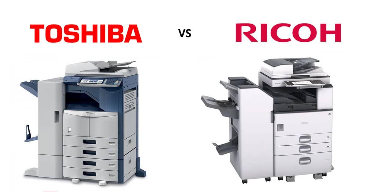 So sánh máy photocopy Ricoh và Toshiba