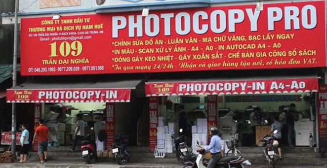Bảng hiệu tiệm photocopy
