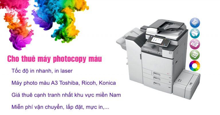 Cho thuê máy photocopy màu