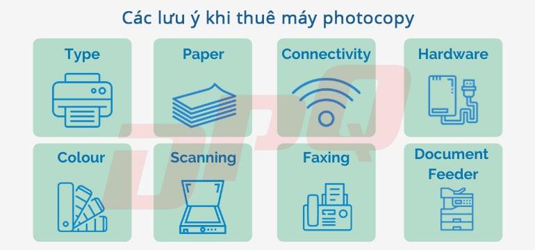 lưu ý trước khi thuê máy photocopy