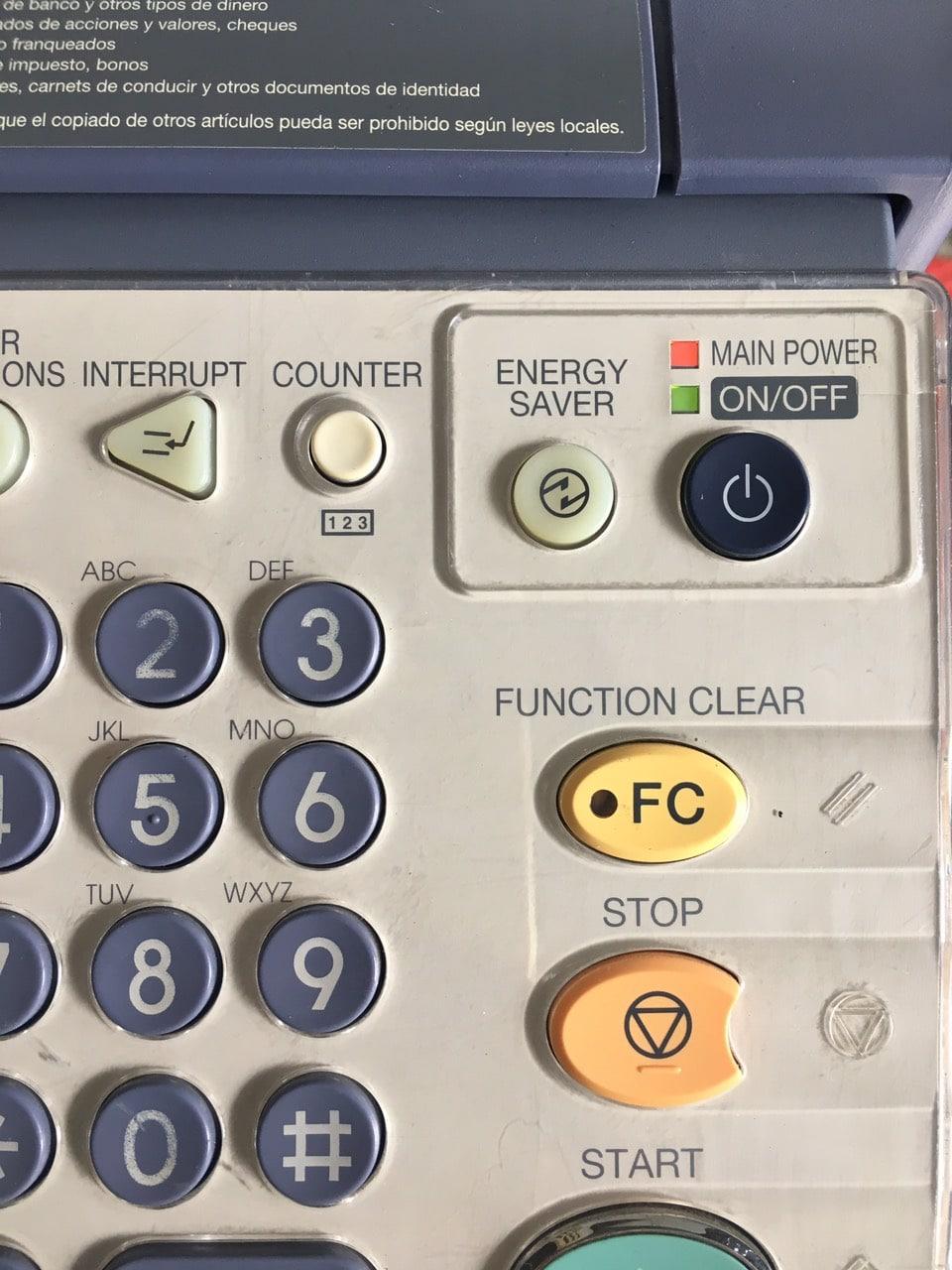 Mở máy photocopy
