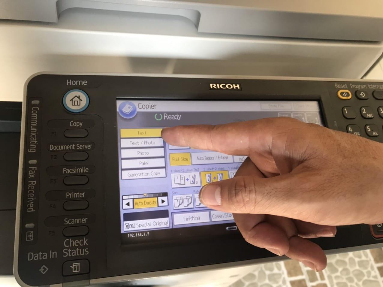 Chọn chế độ photocopy