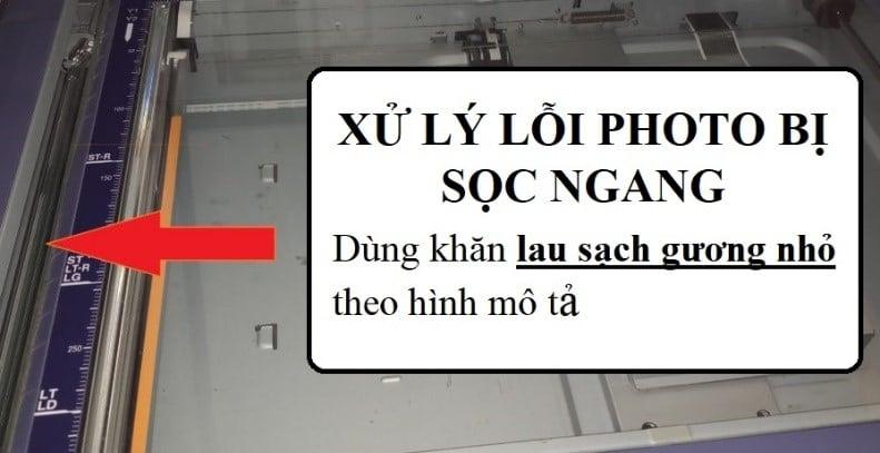 Lỗi bị sọc của máy photocopy