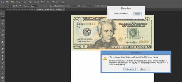 Photocopy tiền