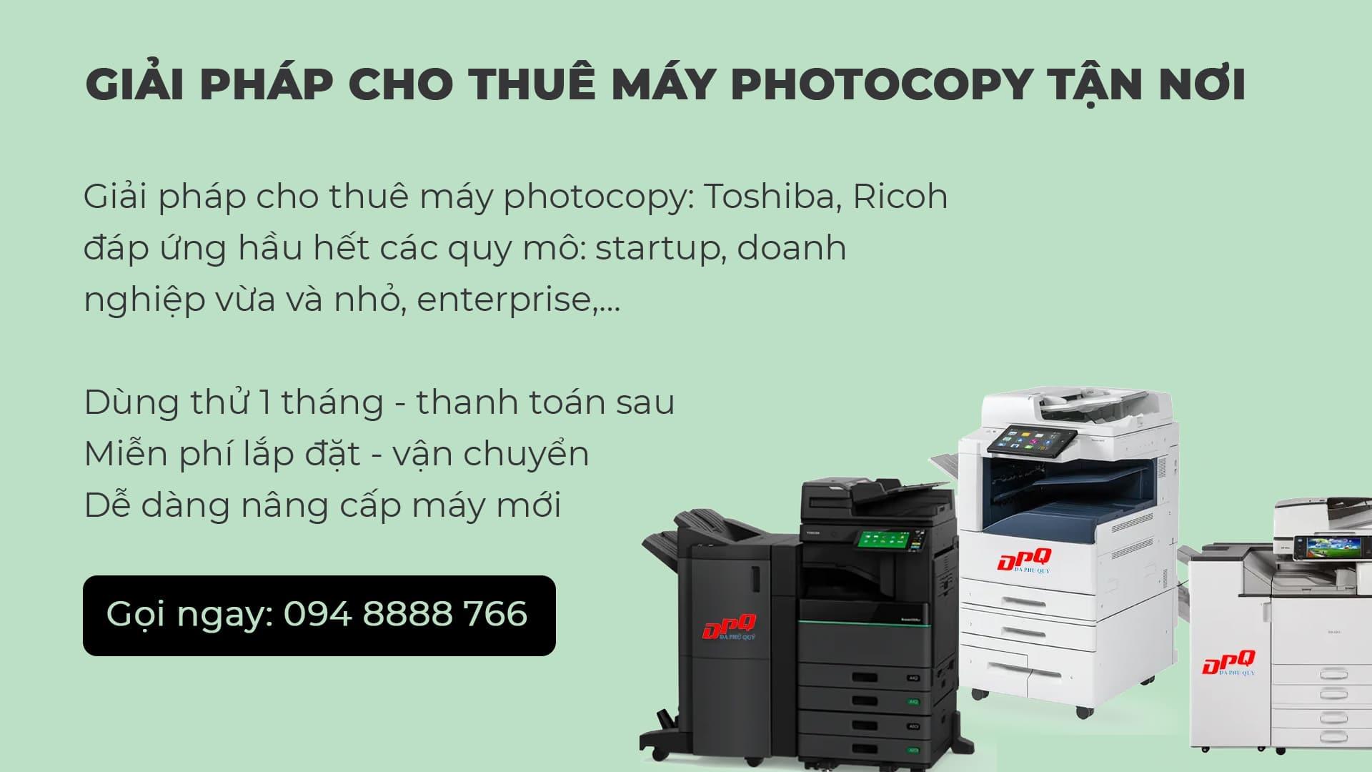 Công ty cho thuê máy photocopy uy tín - Đa Phú Quý