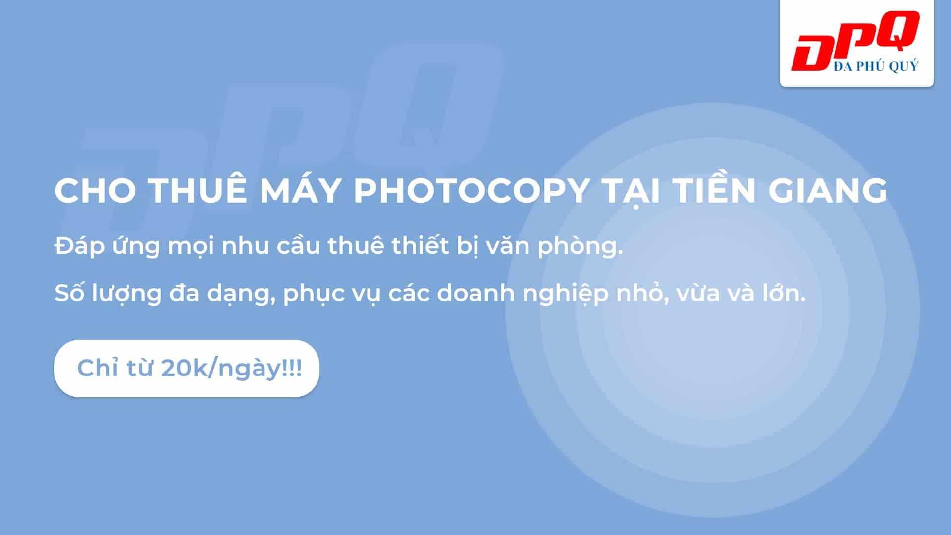 Cho thuê máy photocopy tại Tiền Giang