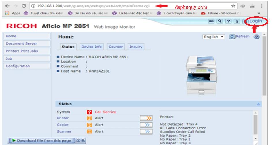 Cách cài đặt scan to folder cho máy photocopy Ricoh trên hệ điều hành Win 7/8