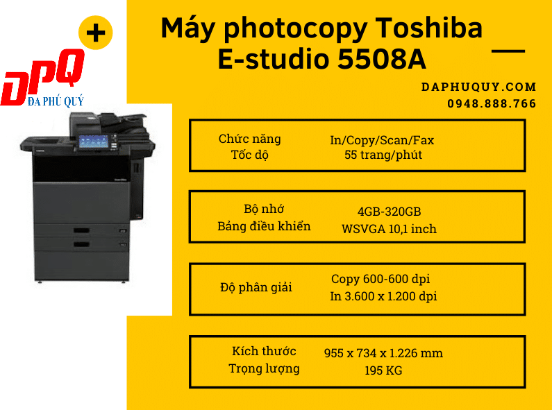 Máy photocopy Toshiba E studio 5508A