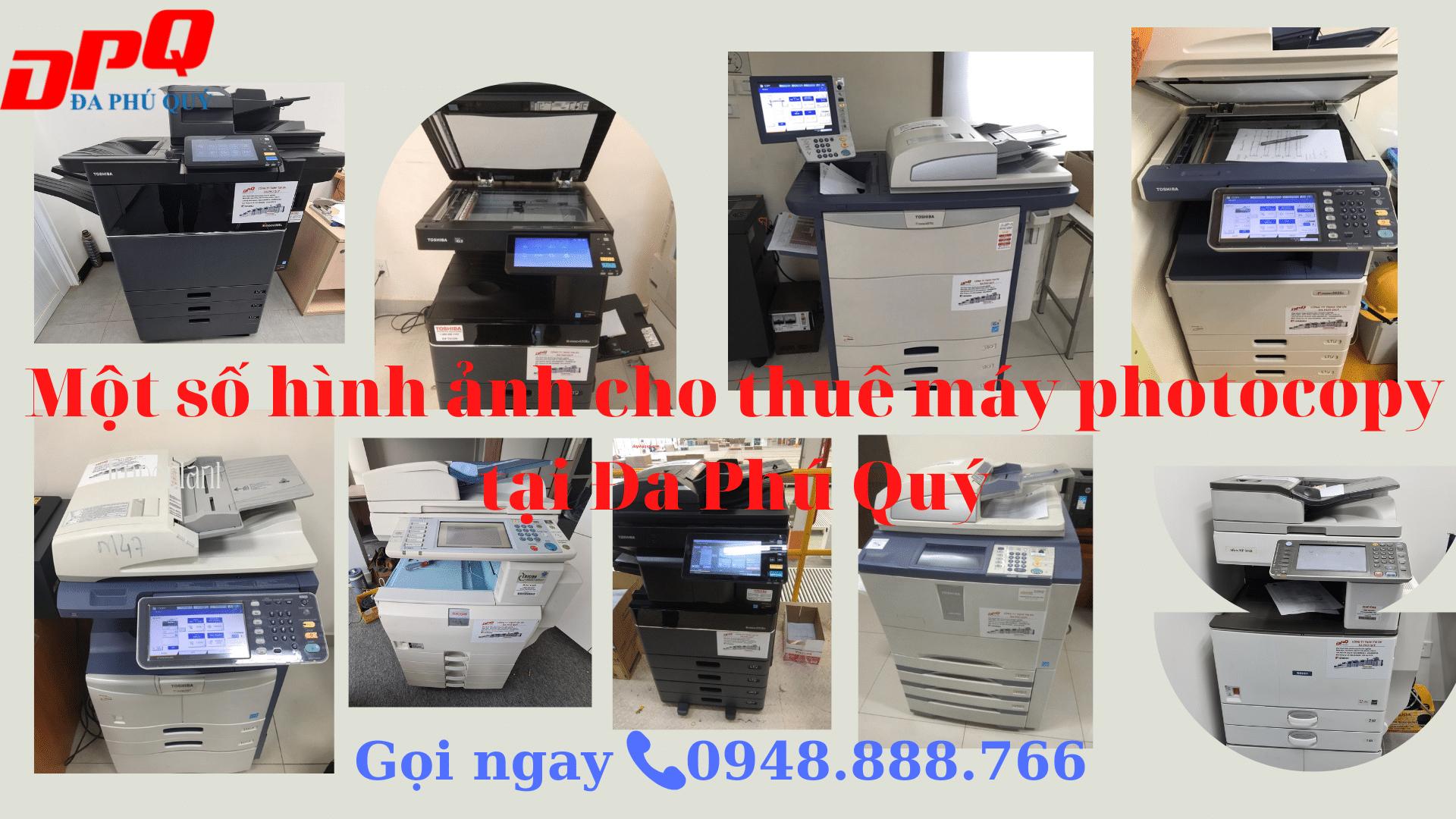 Một số hình ảnh máy cho thuê thực tế tại Đa Phú Quý