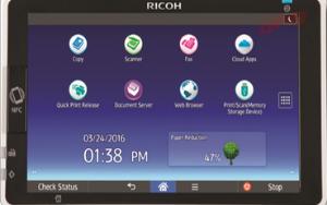 Giao diện máy photocopy Ricoh Mp 9003