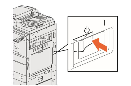 Cách mở tắt nguồn máy photocopy