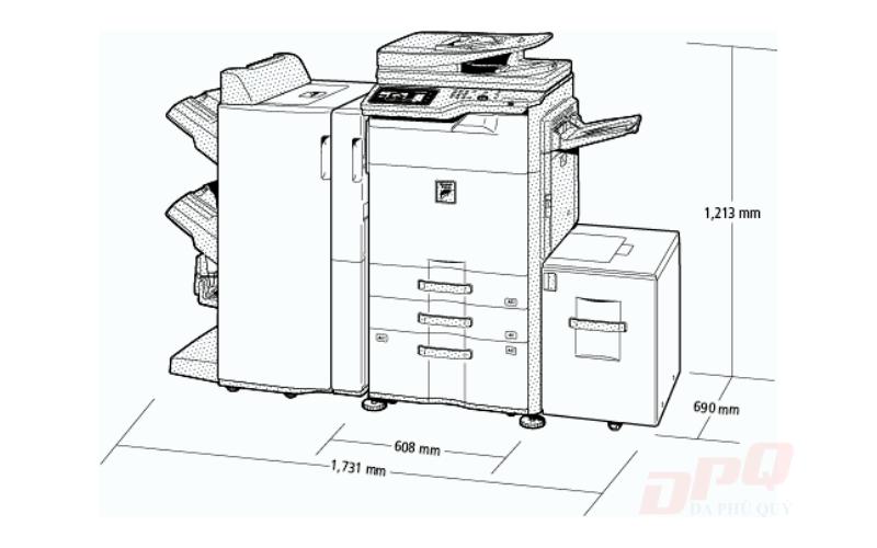 Kích thước máy photocopy Ricoh